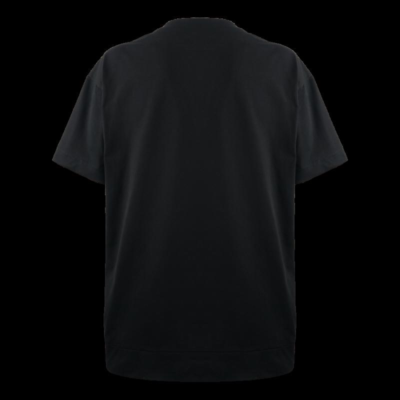 Mother Nature - T-Shirt Oversize Unisex made in Italy. T-shirt Nera con Stampa Digitale e Ricamo. Designed by Leonardo Passeri