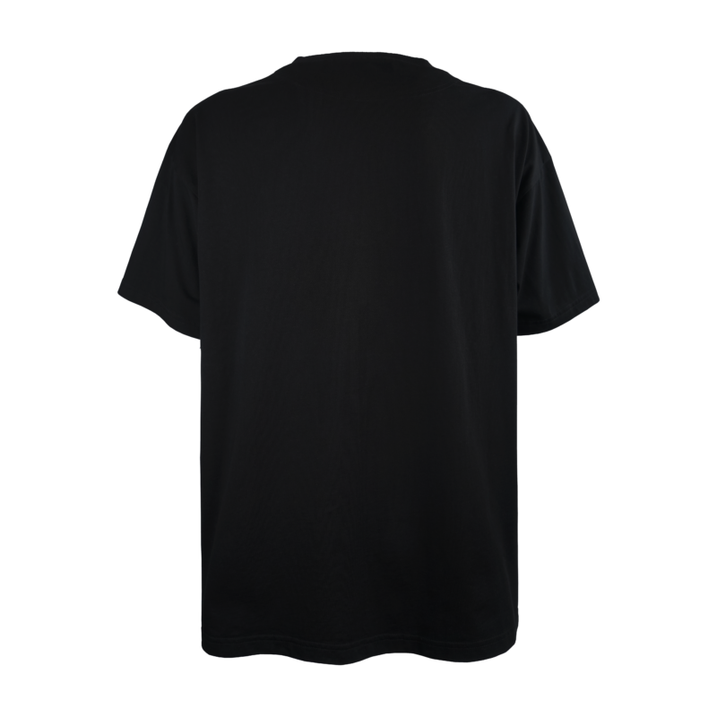 T-shirt Oversize Unisex made in Italy. T-shirt Nera con Ricamo.